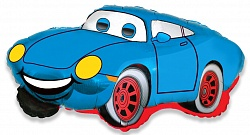 Шар (32''/81 см) Фигура, Гоночная машина, Синий, 1 шт.