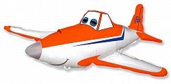 Шар (32''/81 см) Фигура, Гоночный самолет, Оранжевый, 1 шт.