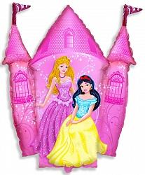 Шар (33''/84 см) Фигура, Замок принцессы, Розовый, 1 шт.