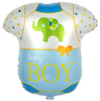 Шар (24''/61 см) Фигура, Боди для малыша, 1 шт.