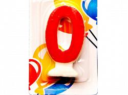 Свеча Цифра 0 Цветная