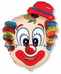 Шар (30''/76 см) Фигура, Голова клоуна В, 1 шт.