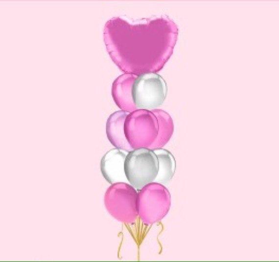 Букет- Большое сердце (Розовый)