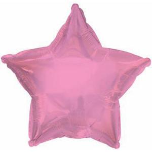 Шар (18''/46 см) Звезда, Розовый, 1 шт.