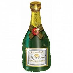 Шар (37''/94 см) Фигура, Поздравляю (бутылка шампанского), 1 шт.