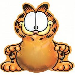 Шар (37''/94 см) Фигура, Гарфилд, Оранжевый, 1 шт.