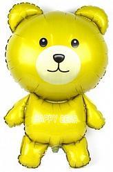 Шар (36''/91 см) Фигура, Мишка, Желтый, 1 шт.