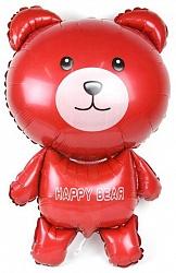Шар (36''/91 см) Фигура, Мишка, Красный, 1 шт.