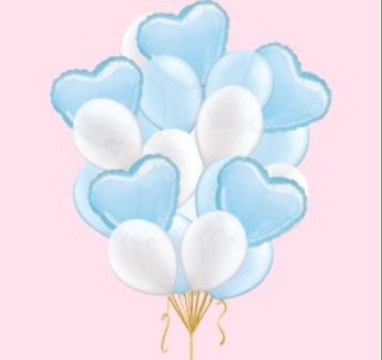 Букет - Синие сердца
