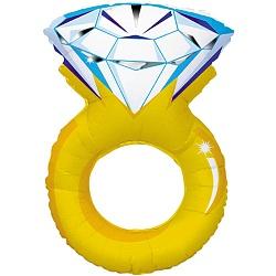 Шар (40''/102 см) Фигура, Кольцо с бриллиантом, 1 шт.