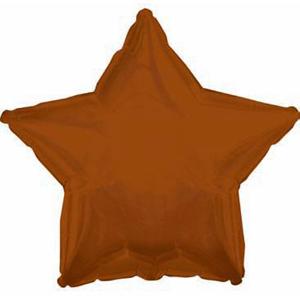 Шар (18''/46 см) Звезда, Коричневый, 1 шт.