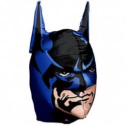 Шар 3-D (36''/91 см) Фигура, Голова Бэтмена, Синий, 1 шт.