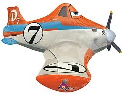Шар (37''/94 см) Ходячая Фигура, Самолет Дасти, 1 шт.