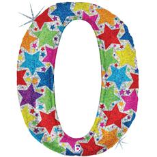 Шар (39''/100 см) Цифра, 0 звезды, 1 шт.