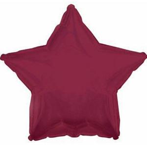 Шар (18''/46 см) Звезда, Бургундия, 1 шт.