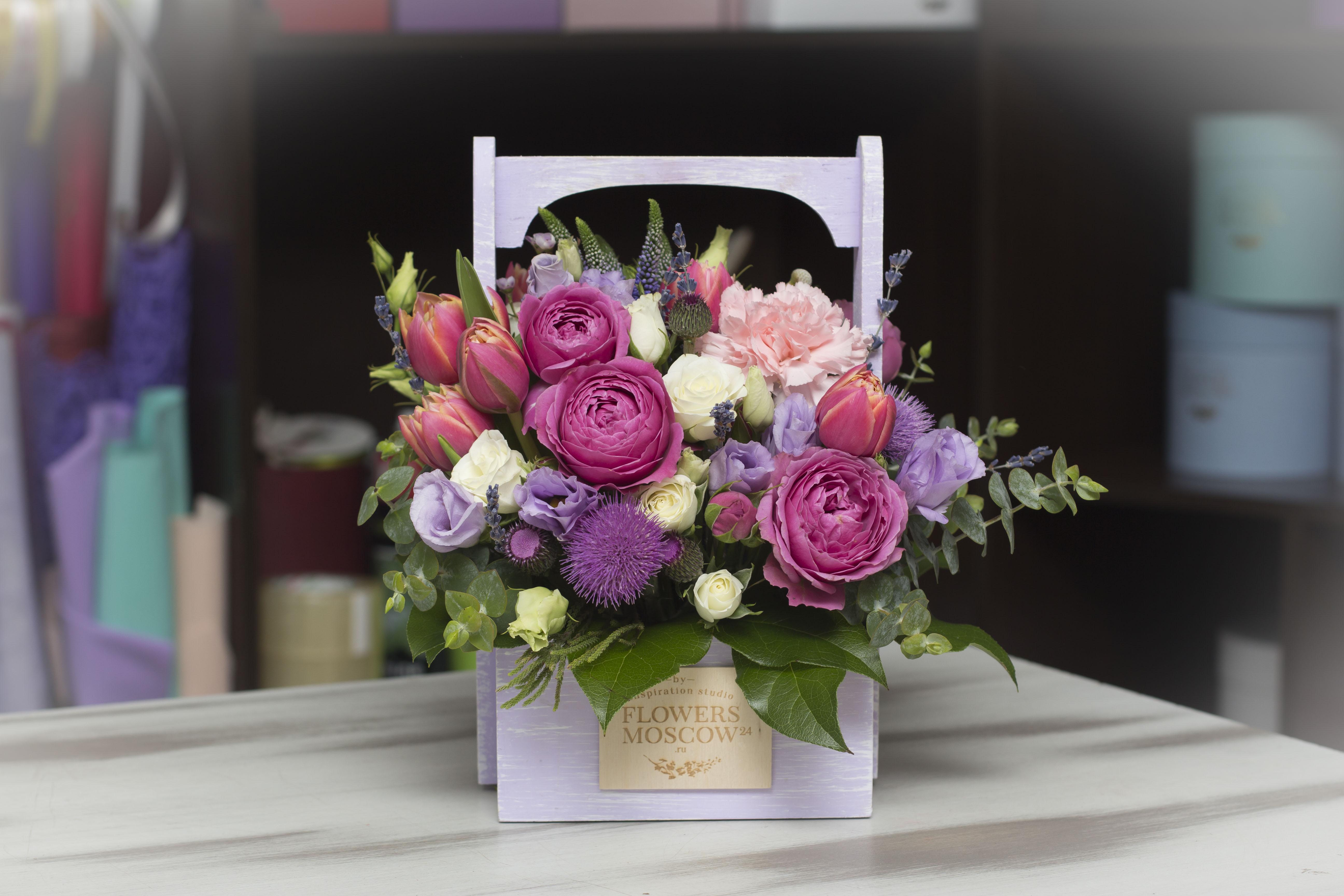 Цветы в ящике Elegance №273