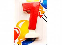 Свеча Цифра 7 Цветная
