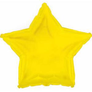 Шар (18''/46 см) Звезда, Желтый, 1 шт.