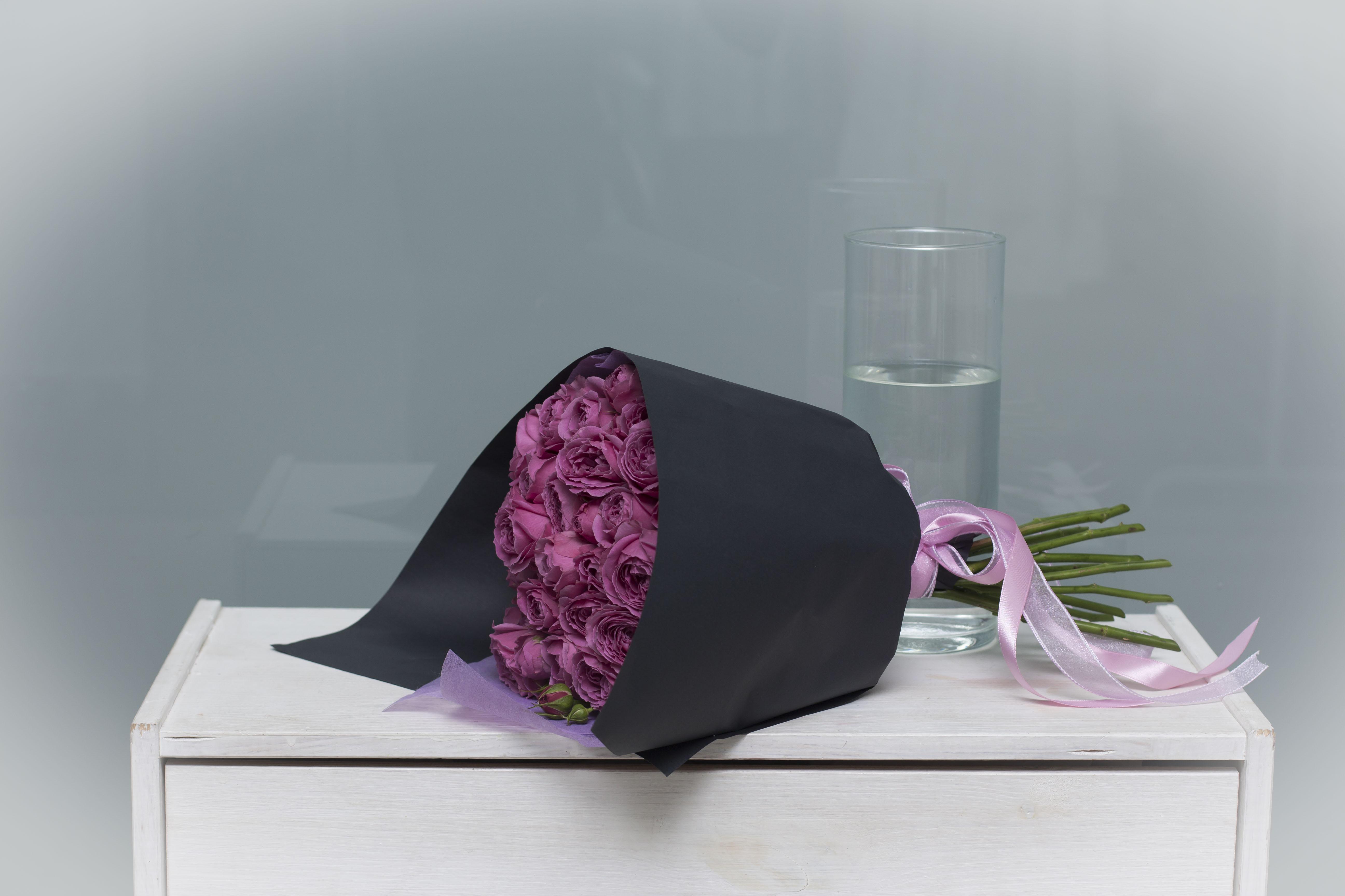 Букет пионовидных роз №48