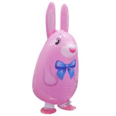 Шар (25''/64 см) Ходячая Фигура, Кролик, Розовый, 1 шт