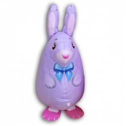 Шар (25''/64 см) Ходячая Фигура, Кролик, Фиолетовый, 1 шт