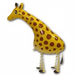 Шар (28''/71 см) Ходячая Фигура, Жираф, Желтый, 1 шт.
