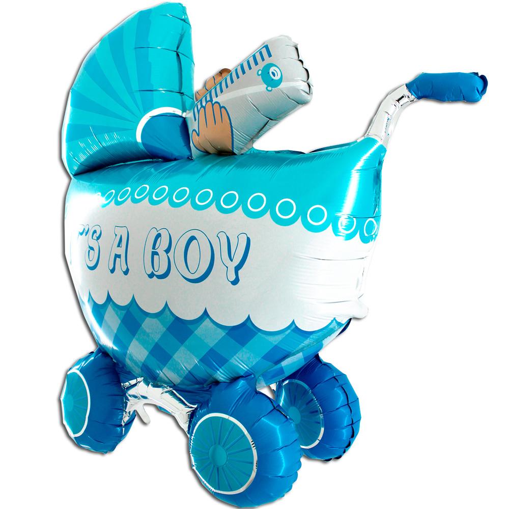 Шар (42''/107 см) Фигура, Детская коляска для мальчика 3D, 1 шт.
