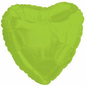 Шар (18''/46 см) Сердце, Лайм, 1 шт.