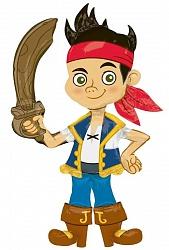 Шар (44''/112 см) Ходячая Фигура, Джейк пират, 1 шт.