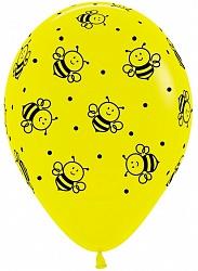 Шар (12''/30 см) Пчелки, Желтый (020), пастель