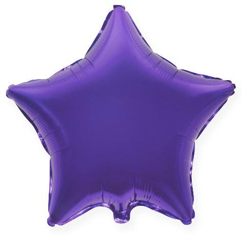 Шар (32''/81 см) Звезда, Фиолетовый, 1 шт.