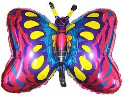 Шар (35''/89 см) Фигура, Бабочка, Фуше, 1 шт.