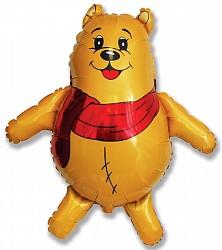 Шар (34''/86 см) Фигура, Медвежонок, Желтый, 1 шт.