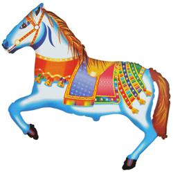 Шар (41''/104 см) Фигура, Лошадь цирковая, 1 шт.