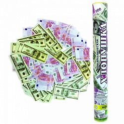 Пневмохлопушка 40см Доллары и Евро