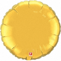 Шар (18''/46 см) Круг, Золото, 1 шт.