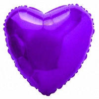 Шар (18''/45 см) Сердце, Фиолетовый, 1 шт.