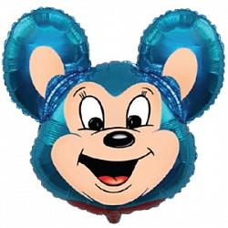 Шар (30''/76 см) Фигура, Могучая мышь, Синий, 1 шт.