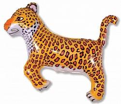 Шар (37''/94 см) Фигура, Леопард, Черный, 1 шт.