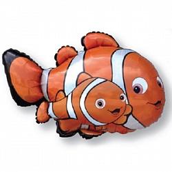 Шар (36''/91 см) Фигура, Рыба-клоун Немо, Оранжевый, 1 шт.