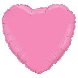 Шар (18''/45 см) Сердце, Розовый, 1 шт.