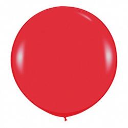 Шар (36''/91 см) Красный (015), пастель