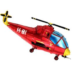 Шар (39''/99 см) Фигура, Вертолет, Красный, 1 шт.