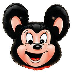 Шар (30''/76 см) Фигура, Могучая мышь, Черный, 1 шт.