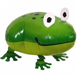 Шар (24''/61 см) Ходячая Фигура, Лягушка, Зеленый, 1 шт
