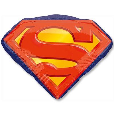 Шар фигура Супермен эмблема 50см