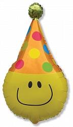 Шар (24''/61 см) Фигура, Забавный клоун, Желтый, 1 шт.