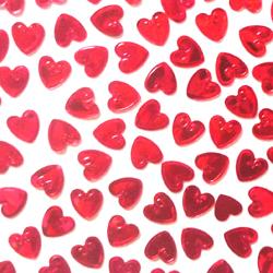 Конфетти Сердца / красные