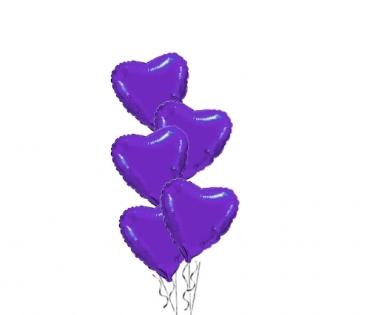 Фиолетовые сердца