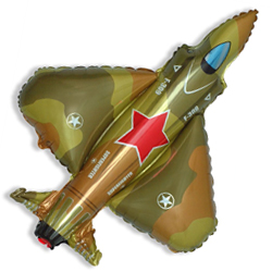 Шар (32''/81 см) Фигура, Истребитель, Военный, 1 шт.
